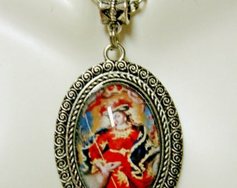 Mary, the shepherdess pendant and chain - AP04-365