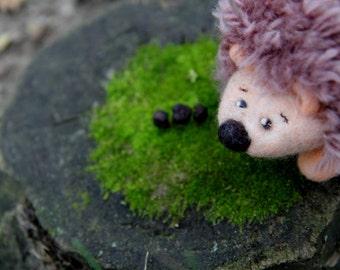 Felted sculpture - Cute hedgehog