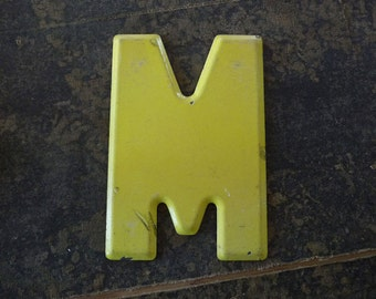Vintage Letter M Steel Marquee Sign Metal Letter Signage -2-