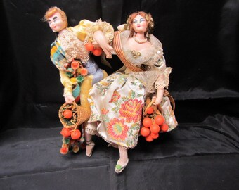 Connected Couple Dancing Dolls,  Man and Women Dancing Display Dolls, Collectable Dancing Dolls, Couple Dolls Dancing, Man and Women Dolls
