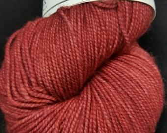 Tango Rose colorway! Bee's Knees Superwash Merino & Nylon, 80/20%, 400 yards hand-dyed sockweight