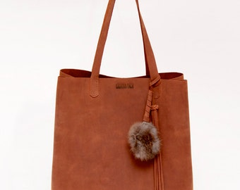 Leather Tote, Oiled leather,Bucket Tote,bucket bag,leather bucket bag