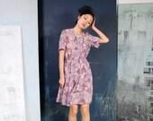 Vintage 80s Misty Petal Dress
