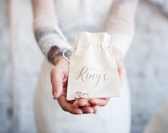 Boho Wedding Ring Bearer Bag, ring pillow alternative