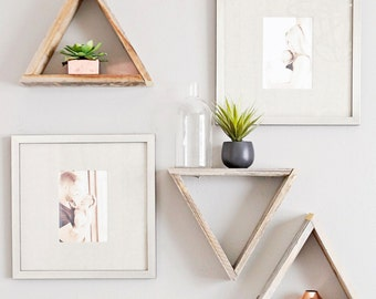 Reclaimed Wood Triangle Shelf | Standard Size (Sold Individually)  ||  As Seen Featured in Nursery for Jenn Brown of the NFL Network!