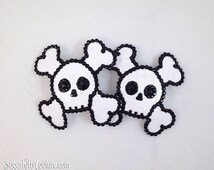 Skull & Crossbones Rhinestone Nipple Pasties - SugarKitty Couture