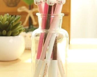 Kitty Cat Pen 0.38mm Black Ink Gel Pen • Cat Pen •  Kitty Cat Pen • Cute Pen
