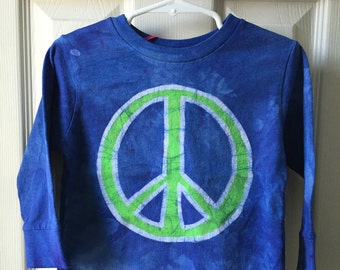 Kids Peace Sign Shirt, Boys Peace Sign Shirt, Girls Peace Sign Shirt, Blue Peace Sign Shirt, Green Peace Sign Shirt, Kids Peace Shirt (2T)