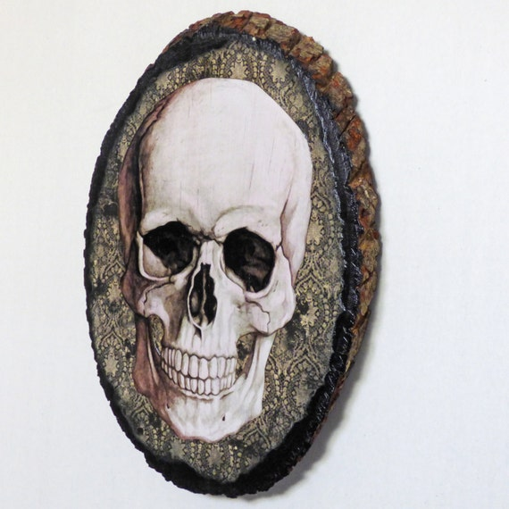 Gothic wall art skull decor gothic home decor by for Skull home decor