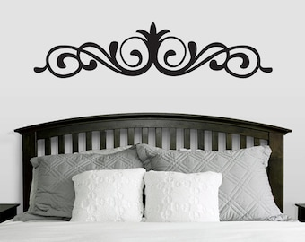 Elegant Accent Scroll Wall Decal - Embellishment Decor Stickers Graphics