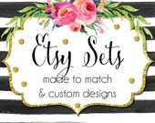Made To Match Etsy Set and Etsy Set Mini - Choose from any of my Etsy Banner Sets