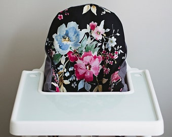 PREORDER: IKEA Antilop Highchair Cover // Watercolor Floral // High Chair Cover for the PYTTIG Cushion // Pillow Slipcover