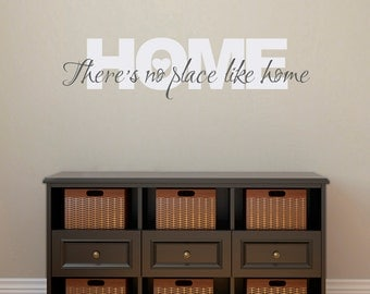 Home Wall Decal - There's no place like Home Decal - Wizard of Oz Wall Decal Quote - Medium 2 color