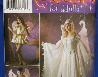 Sewing Pattern Simplicity 3675 Multi-Sized 6-8-10-12 Uncut Unused Fairy Faerie Dress Gown Long or Short Fantasy Costume Free Shipping