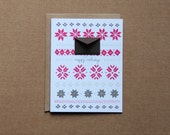 Set of 8 Folded Cards Box Set - Holiday Knits Fair Isle Sweater