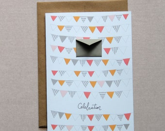 Celebration Party Banners - Tiny Envelopes Card