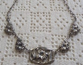 Vintage Necklace Sterling Silver Floral Links Danecraft