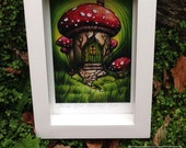 Faerie House - Fairy House - Irish Faerie House - Faeries of Ireland - Faerie Magnet - Faerie Print in Frame