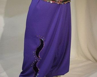 Harem Pants, Belly Dance Pants, Purple Belly Dance Costume, Gypsy Dance Pants, Pantaloons, Gypsy Costume, Renaissance Clothing, Ren Faire
