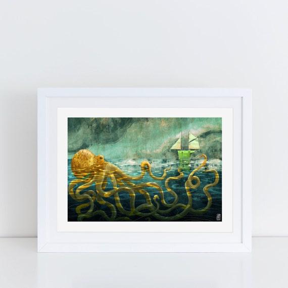 The Kraken - Signed Print