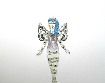 Butterfly Fairy Paper Doll,  Fairy Paper doll, Paper Doll, Jointed Paper doll, Articulated paper Doll, Art Doll, Paper Puppet