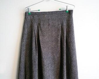 80s Carole Little Herringbone Pattern Skirt Size 14 Petite, SALE