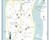 City Chic Wedding Map -- New York City