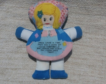 Mini Cinderella Flip Doll, 1977 Dan-Dee Soft Doll, Sweet Storybook Character Doll
