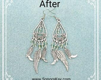 CowGirl Bling Angel Wing Earrings
