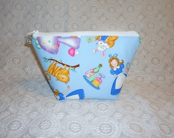 Alice in Wonderland Makeup Bag