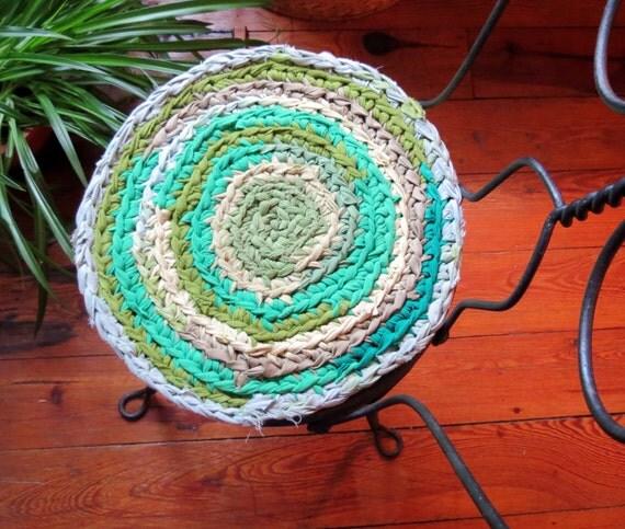 Braided Rug Pad: Round Rag Rug Chair Pads Braided Crochet Rag Rug