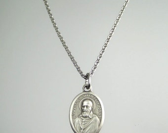 Saint Francis de Sales Medal Necklace