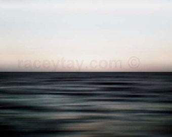 Modern Ocean Photography, Bathroom Wall Art, Abstract, Waves, Dark Blue, Soothing Powder Room Art