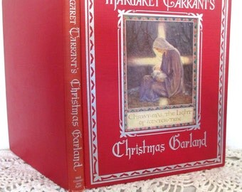 Margaret Tarrant's Christmas Garland, exquisite book, color plates, Christmas red cover, 1942, beautiful family gift