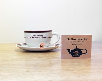 A mini zine with a zen story about tea and meditation, in a tea packet sleeve. Zen zine. Mindfulness gift for teacher. Graduation gift.