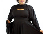 Plus size black Shrug - One Size