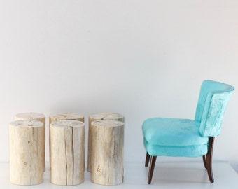 Stump Table Stool Seat Naked