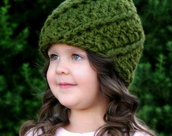 Crochet Pattern - The Glenn Gnome Hat (Newborn, Baby, Toddler, Child sizes)