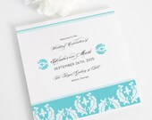 Trifold Damask Wedding Programs, Cascading Damask Design, Purchase this Deposit to Get Started
