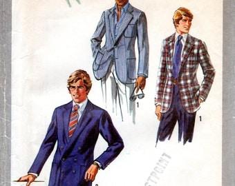 1970s Men's Jacket Pattern - Vintage Simplicity 8900 - Size 44 UNCUT FF