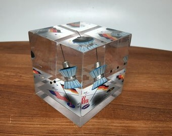 Project Helios 1 Satellite Lucite Paperweight- 1974 NASA / Germany