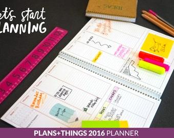 PRINTABLE Plans + Things 2016 Planner (January 2016-December 2016)