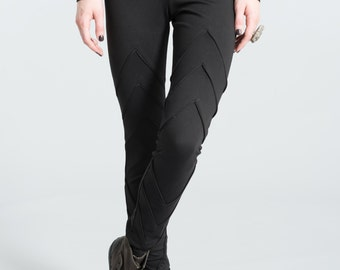 Designer Long Leggings / Womens Tights / marcellamoda / Pants - MP132