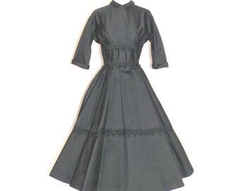 50s Dress, Suzy Perette Dress, 1950s New Look Dress, LBD