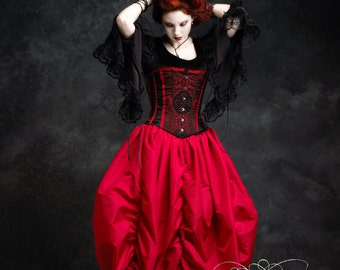 Narcisse Vampire Fairy Tale Romantic Gothic Handmade Bustle Skirt - Dark Romantic Couture by Rose Mortem