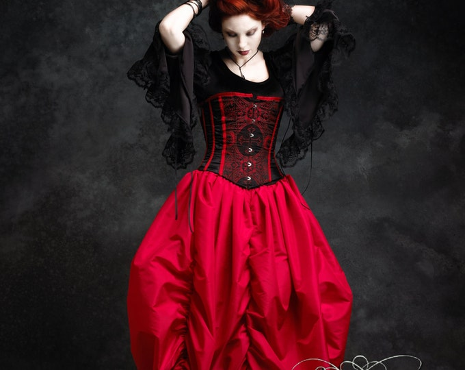 Narcisse Vampire Fairy Tale Romantic Gothic Handmade Bustle Skirt - Dark Romantic Couture by Rose Mortem