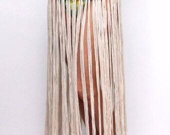 Boho Beach Skirt CROCHET PATTERN / Swimsuit Coverup / Fringe Skirt / Made in Canada