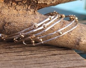 Sticks and Stones Bangle Collection - Four Bangles, Mixed Metals Jewelry