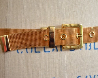 SUPER SALE / Vintage 1980s GOLDEN metal mesh belt
