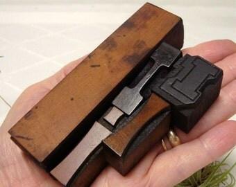 Letter I Letterpress 5 Wood Type Blocks Initial I Vintage